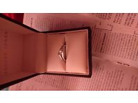Loves Embrace - white gold engagment ring, size O - New/Unused