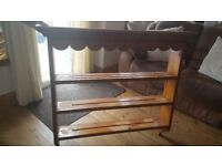 Heavy solid pine plate rack / wall unit
