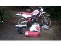 LOW MILES LONG MOT 85 XT600 43F WITH TENERE SPARES INCLUDING TANK & SADDLE