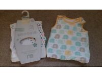 Two Baby Sleeping Bags (Animals) 0-6 months