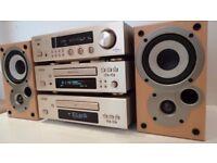 Denon DRA-F100 DCD-F100 DDR-F100 HiFi Component System with Denon SC-M50 speakers