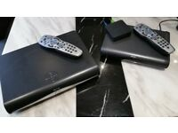 Sky plus hd box/multi room box/router package