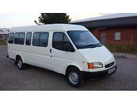 Ford transit jumbo 1998 ex minibus/camper project/motorcross 11 mts mot history