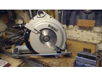 Dewault circular saw. Heavy duty.