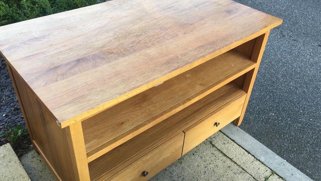 tv unit furniture village oak in totton hampshire gumtree