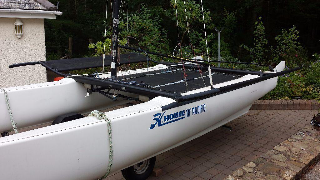 Hobiecat 18 Pacific Getaway Catamaran With Launching Trax
