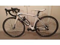 Giant Full Carbon Fibre Frame & Fork Racing Road Bike - White