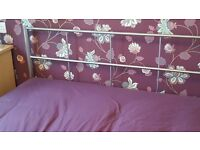 Silver Metal double bed