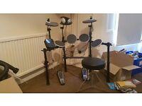 Alesis Dm Lite Electronic Drumkit, stool, headphones and drumsticks