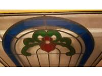 Beautiful stained glass window only no frame