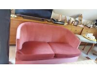 Pink 2 seater sofa