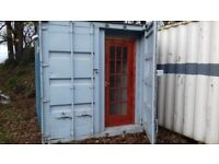 10ft x 8ft container fully thermaboard insulated ply lined electrics lighting watertight no vat