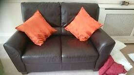 REDUCED Real leather sofa!! RRP £340