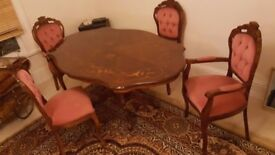 Antique beautiful dinning table set!
