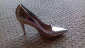 Ladies NEXT Rose Gold Heel Size 5