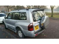 BRILLIANT 7 SEATER AUTO SHOGUN DI-D ELEGANT,FULLEATHER,2 OWNER ,SAT NAV,13 STAMPS VG CONDITION