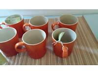 6 Le Creuset Volcanic Mugs
