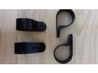 60 Large Plastic 'P' Clips - Black - Industrial - New