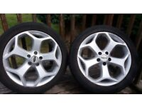 4 ALLOY WHEELS - FORD FOCUS ST TYPE. 18 INCH RIMS