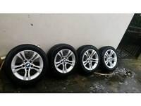 """BMW 16"""" Alloy Wheels & Tyres x 4"""