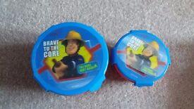 BRAND NEW Fireman Sam snack pot sets - i have 4 for sale £1.50 each