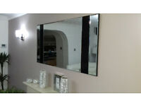 Gorgeous Contemporary Modern Wall Mirror With Black Trim.