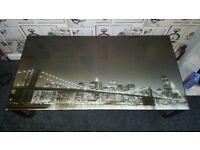New york glass coffee table