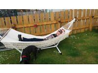 Deluxe garden hammock with stand