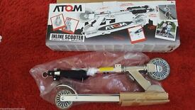 ATOM INLINE SILVER TONE SCOOTER 5+