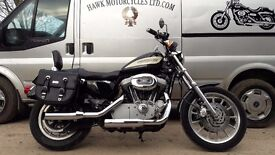 AMAZING2004 HARLEY DAVIDSON XL1200R ROADSTER WITH BAGS, FORWARD CONTROLS