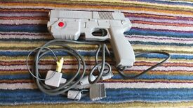 Namco NPC-103 Light Gun Grey with adaptor good condition