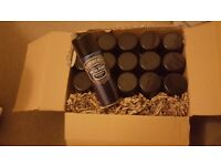 Hammerite x15 Smooth Black Metal Spray Paint 400ml x15 Aerosol Tins