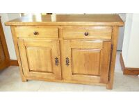 Old Oakland Two Door/ Two Drawer Base Unit in Solid Oak - Excellent Condition £150 ONO