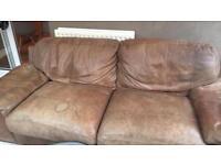 Large brown leather sofa - free