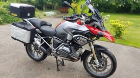 BMW R1200GS LC TE 2015 model in red - full luggage, low mileage & FSH VGC