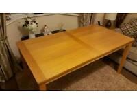 Light oak dining room table