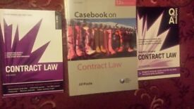 BARGAIN - CONTRACT LAW BOOKS for A LEVELS, DEGREE AND LPC STUDENTS, GRAB A BARGAIN!!!