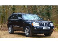 Jeep Grand Cherokee 3.0 CRD V6 Overland 2007 (57 reg), 85,686 miles Automatic Diesel
