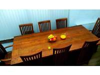 Taplok dining table 8 chairs