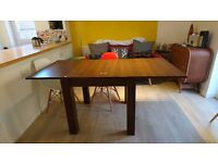 Extending dining table from Next, square 80x80, extends to 160x80. Collection only.