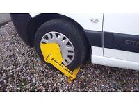 CAR VAN TRAILER WHEEL CLAMP