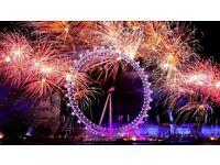 4 x London NYE Eve Fireworks 2016-2017 Tickets Blue Area - Thames Riverside - In Front of London Eye