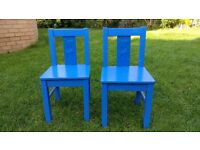"Pair of blue Ikea ""Krittter"" Chairs"