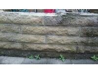 Sandstone wall blocks