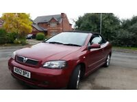 VAUXHALL ASTRA CONVERTIBLE, 12MONTHS MOT, SERVICE HISTORY, CHEAP ON FUEL TAX, TIDY, £675ONO
