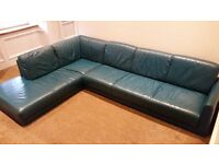 Large Teal IKEA Hamra Corner Sofa - 2830 x 2030mm Leather - Excellent Condition