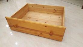 Pine under bed drawer storage units