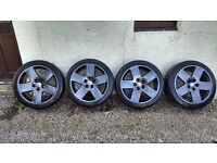 """Genuine Audi 18"""" Flat Five Alloy Wheels with Tyres £425 ono"""