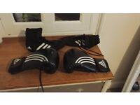 Adidas boxing boots and gloves