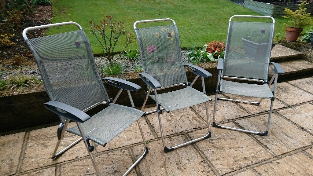 Lafuma Champs Elips Highback Camping Chairs X3 In Chandlers Ford